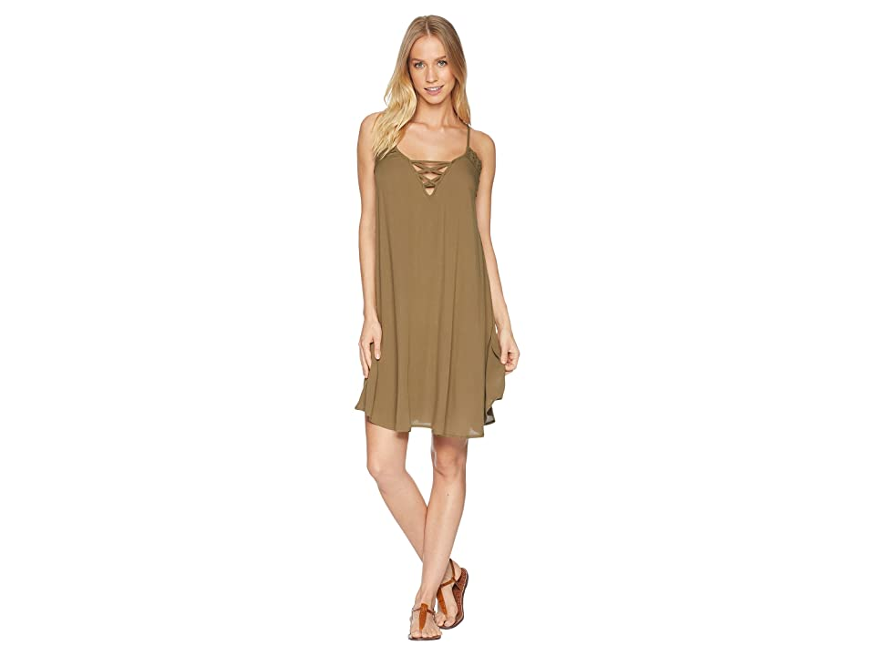 Roxy Taste Of Sea Cover-Up (Burnt Olive) Women