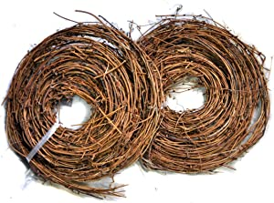 Ougual DIY Crafts Natural Grapevine Twig Garland Wreaths Decor 15-Feet