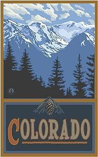 Colorado Snowy Mountain Ridges Travel Art Print Poster by Paul A. Lanquist (12