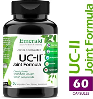 UC-II Joint Formula - w/ Meriva® Phytosome & Bioperine - Supports Joint & Cartilage Repair, Collagen Growth, & Reduce Pain & Inflammation - Emerald Labs (Ultra Botanicals) - 60 Veg Capsules