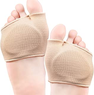 Metatarsal Pads for Women & Men - Ball of Foot Cushions with Gel Pads, Durable Fabric, One Size Fits All, Ideal for Sesamoiditis, Metatarsalgia, Mortons Neuroma, Forefoot Pain Relief, Diabetic Feet