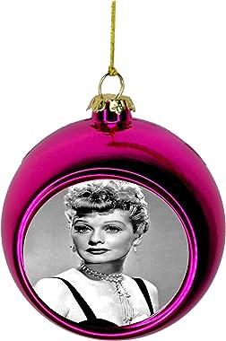 Lea Elliot Inc. Lucille Ball Bauble Christmas Ornaments Pink Bauble Tree Xmas Balls