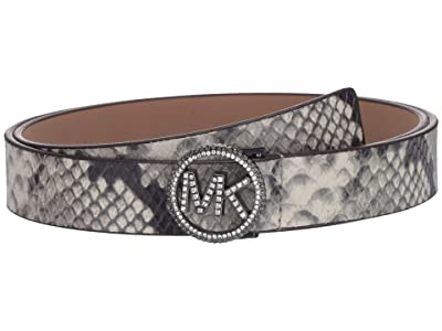 MICHAEL Michael Kors 25 mm Pave Logo Belt (Natural) Women