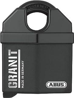 ABUS Granit Vorhängeschloss 37/60 aus gehärtetem Spezialstahl   Schlüssel mit LED Licht   mit ABUS Plus Scheibenzylinder   35062   Level 10   Schwarz