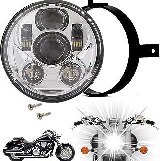 Shiwaki Motorcycle 5.5 Headlight Scooter High Low Beam Light Lamp 30W 6 LED