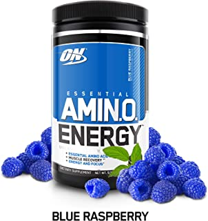 Optimum Nutrition Amino Energy 30 Serve, Blue Raspberry, 270-Grams, 9.5 Ounce (1 Count)