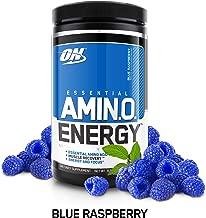 Optimum Nutrition Amino Energy 30 Serve, Blue Raspberry, 270-Grams, 9.5 Ounce (1 Count)