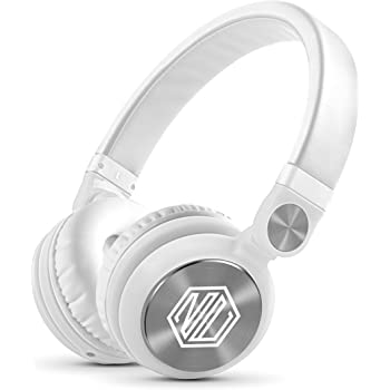 Nu Republic Starboy X-Bass Wireless Headphone with Mic (White)