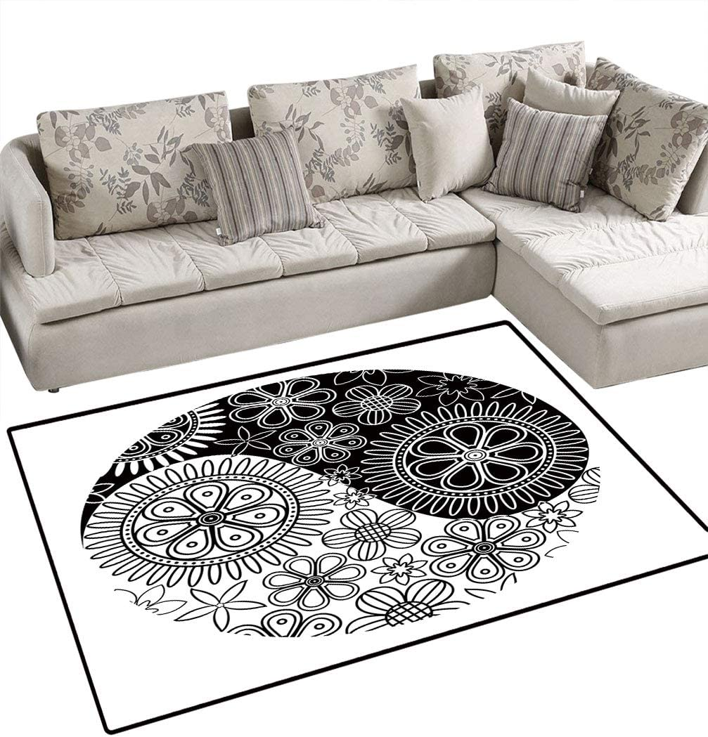 Abstract Decor Max 87% OFF Area Rugs Floor Covers Symbol with Yin Flor Arlington Mall Yang