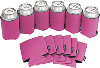 Koozie Can Cooler Blank Foam Sleeve Bottle Holder - authentic coozies insulators Great for DIY Projects for Wedding, Bachelorette Party, Birthdays - Pack of 12 (Pink, 12)