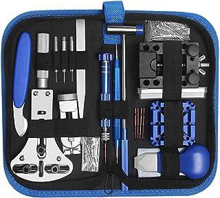 LiRiQi Kit Riparazione Orologi,185 pezzi Tool Kit Professionale di Riparazione Orologi, Attrezzi di Apertura Orologi e kit...