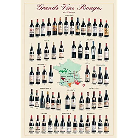 Standard Gerollt - Weinf/ührer als Kunstdruck Wein Poster Din A1 Poster Entdecke deinen Neuen Lieblingswein Flawoma Wein Tableau