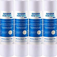 """GOLDEN ICEPURE 5 Micron 10"""" x 2.5"""" Whole house Sediment Water Filter Replacement for WHIRPOOL WHKF-GD05, Aqua-Pure AP110, ..."""