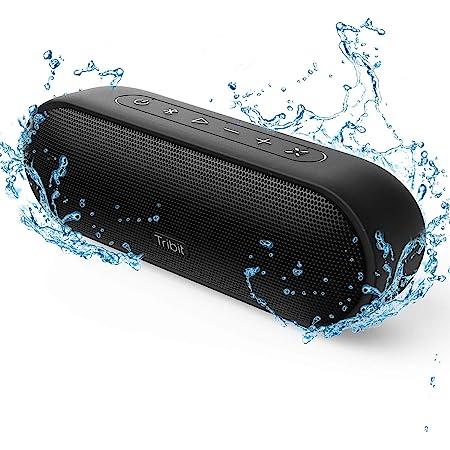 【最新型】Tribit MaxSound Plus bluetoothスピーカー ワイヤレススピーカー ブルートゥーススピーカー 24W ポータブルスピーカー 20時間連続再生 IPX7完全防水 マイク内臓 高音質 18ヶ月品質保証 ブラック BTS25