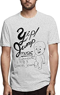 KOTEHR Print Daniel Johnston T Shirt Peofessional Print Design Breathable Casual Shirt for