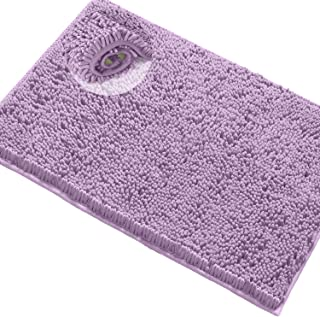 LuxUrux Bathroom Rug Mat -Extra-Soft Plush Bath Shower Bathroom Rug,1'' Chenille Microfiber Material, Super Absorbent Shag...
