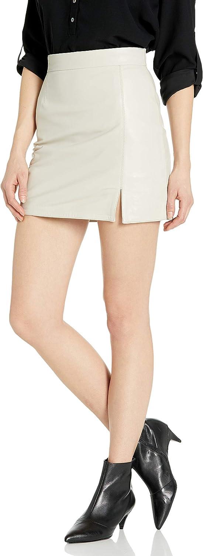 BB Dakota by Steve Madden Women's Leather Mini Skirt