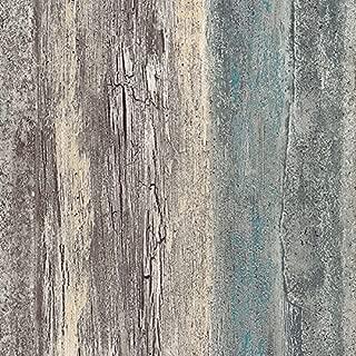 Norwall NW35328 Brockton Vinyl Birches Textured Wallpaper, Teal, Multi-Color