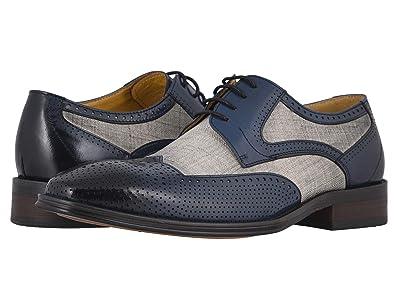 Stacy Adams Harrison Wing Tip Oxford (Blue/Beige) Men