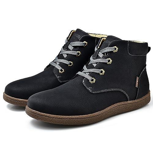 Botines Desert Hombre Invierno, Gracosy cuero Zapatos Botines de gamuza Botas de tobillo Botas Casuales