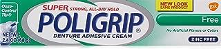 Super Poligrip Zinc Free Denture Adhesive Cream, 2.4-Ounce Tubes (2)
