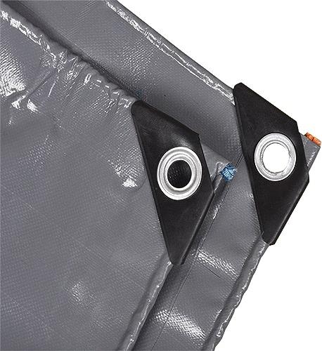 Imperméabilisation imperméable résistante de bache de gris bache de bache 0.45mm, 500g   m2 - 100% imperméable et UV a prougeégé, Taille 11 Disponible