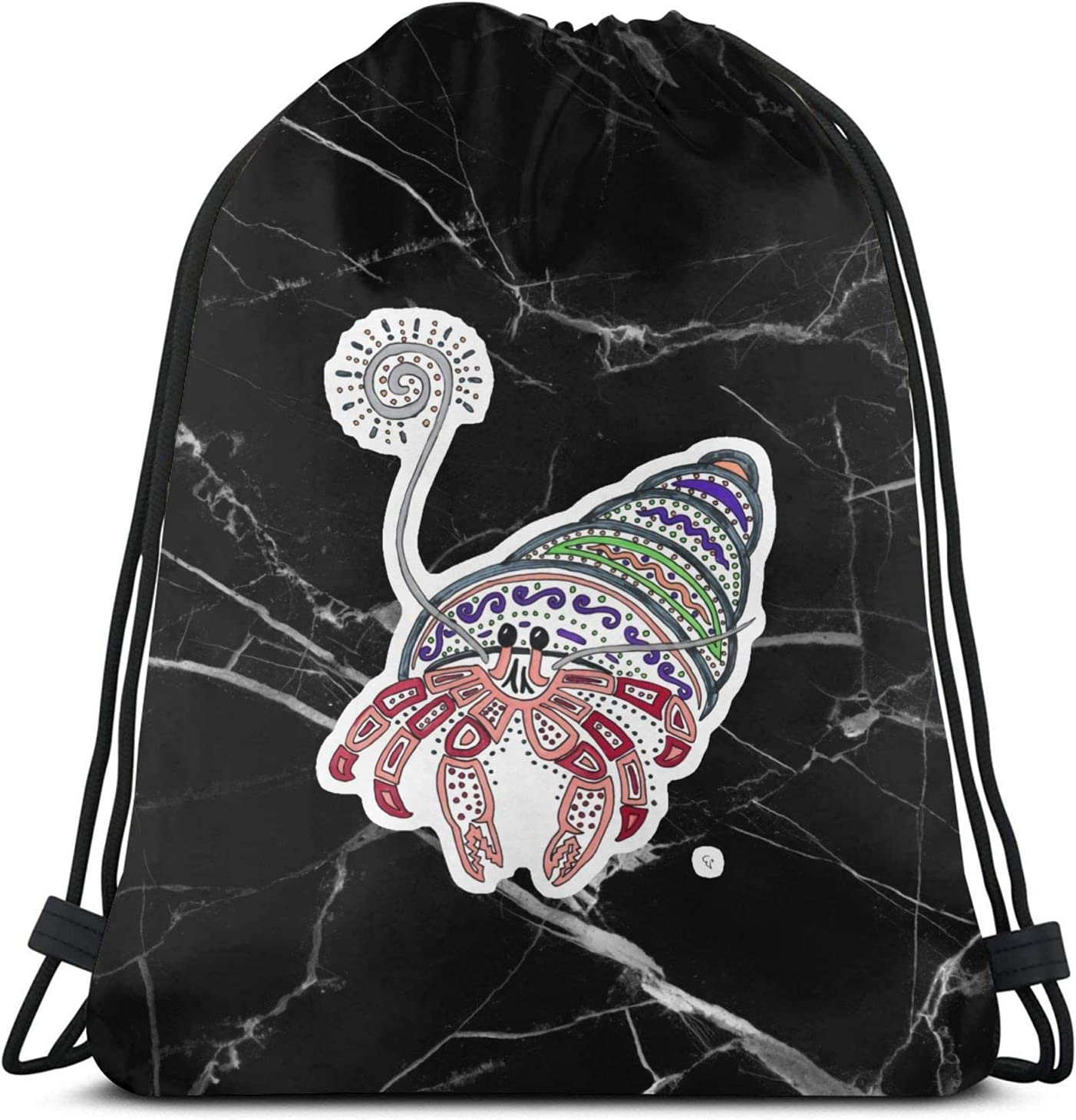 The Price reduction Hermit Limited Special Price Crab Drawstring Backpack Gym Workout String Bag Bags
