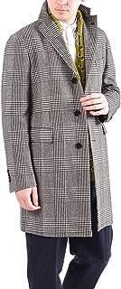 TAGLIATORE (タリアトーレ) チェスターコート ロング アウター メンズ 秋冬 ウール コットン チェック ブラウン 茶/XS XL 2XL/イタリア ブランド ビジネス【並行輸入品】