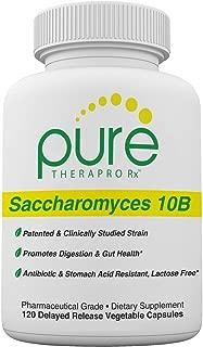 "Saccharomyces Boulardii (10 Billion CFU Per Serving) - 120 ""Acid Resistant"" VCaps | Patented & Clinically Studied Strain | Antibiotic Resistant -Lactose Free | Pharmaceutical Grade | Zero Fillers"