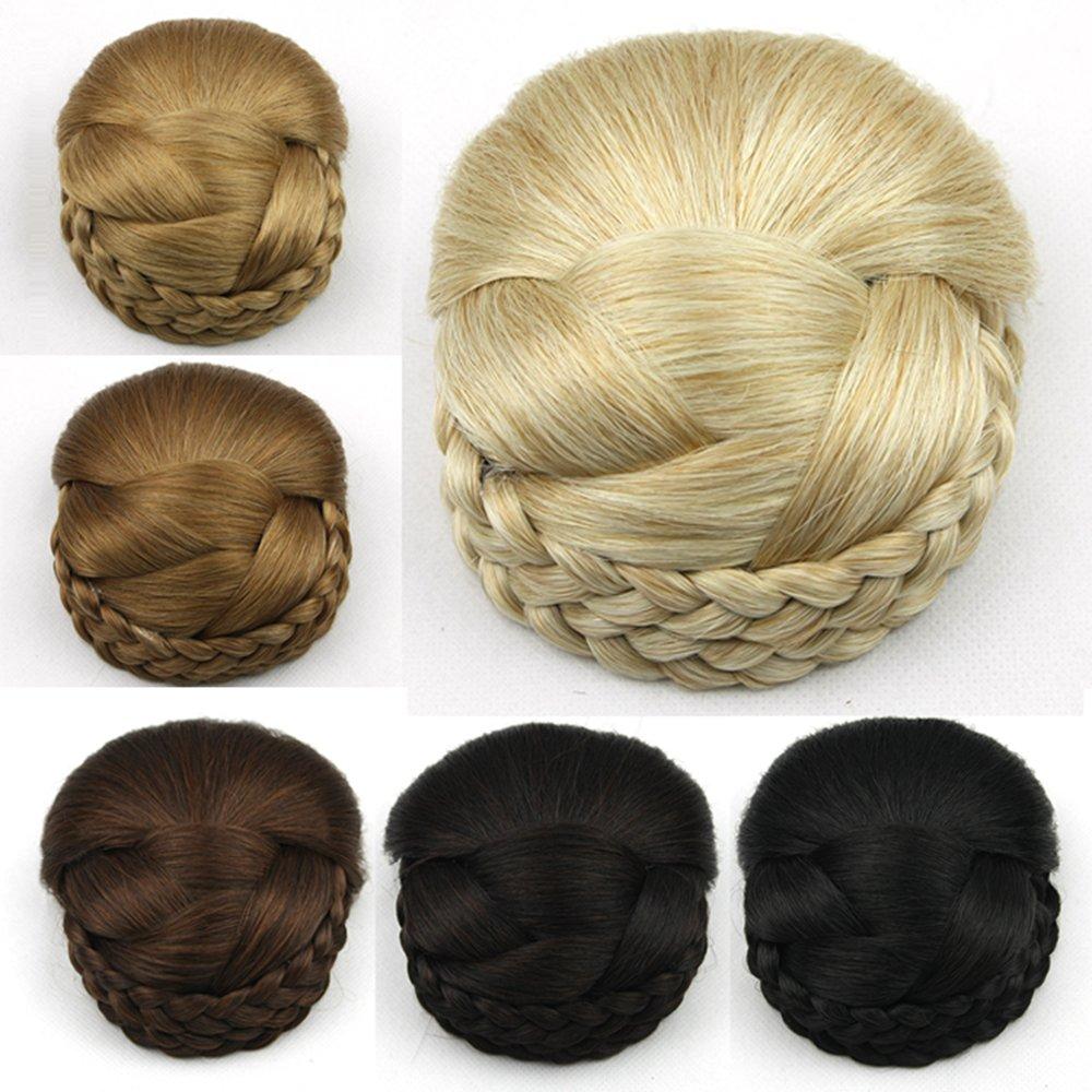 Amazon Com Deniya Braid Fake Hair Bun Hairpiece Extension For Women Short Hair Cosplay Accessories For Women Beauty