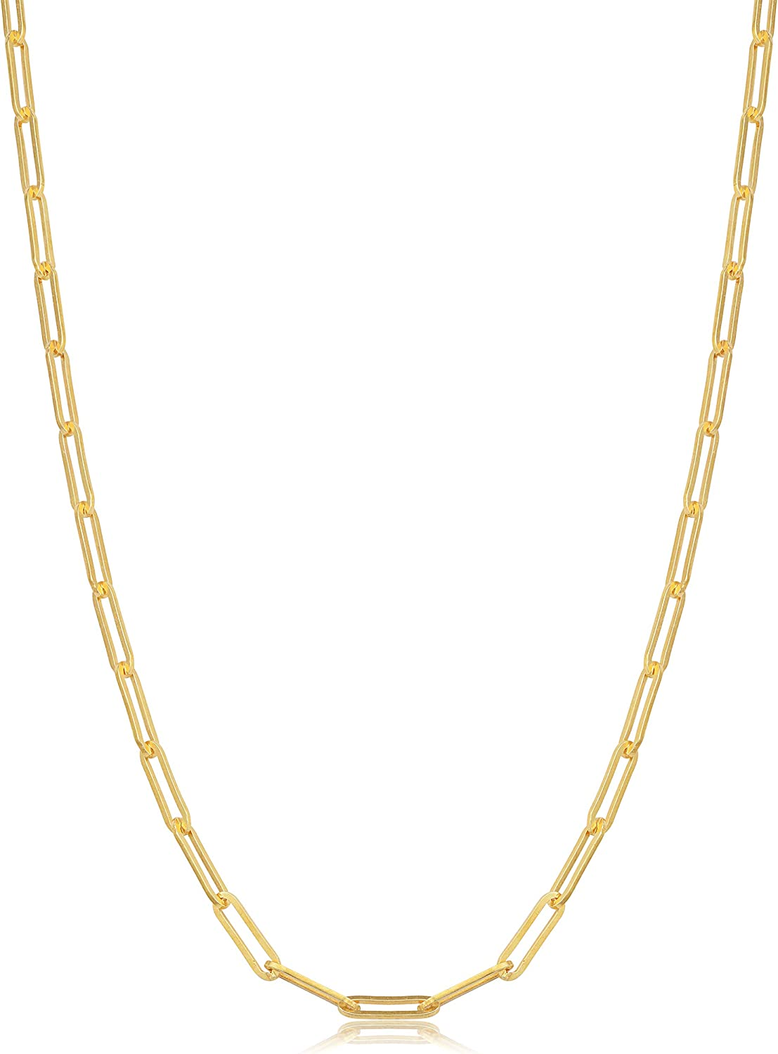 latest KoolJewelry Yellow Gold Over Sterling Save money Ch 2.9 Paperclip Silver mm