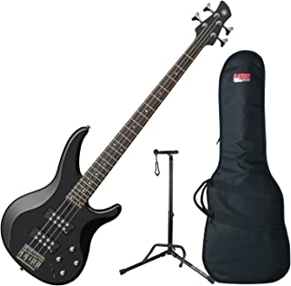 Yamaha TRBX304 BL TRBX-304 Black 4 String Bass Guitar w/ Gig Bag and Stand