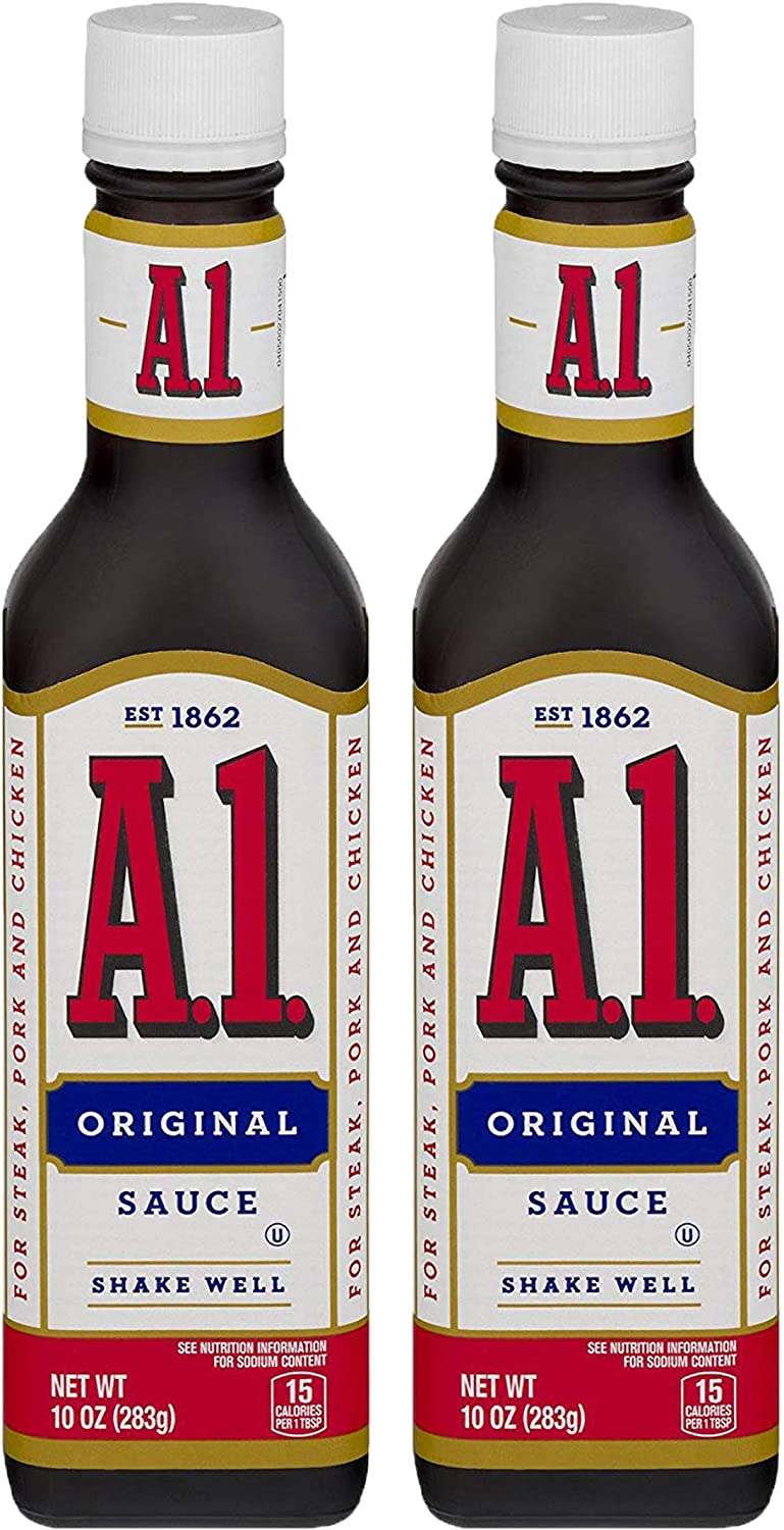 Amazon Com A1 Steak Sauce Original 10 Oz 2 Pack Grocery Gourmet Food