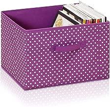 Furinno Laci Dot Design Non-Woven Fabric Soft Storage Organizer, Small, Purple
