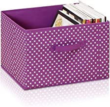 Furinno Laci Dot Design Non-Woven Fabric Soft Storage Organizer, Small, Purple