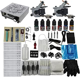 Redscorpion Tattoo Complete Kit Set 2pcs Coil Tattoo Machine Gun for Starter Tattoo Kits Supply