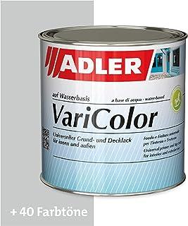 ADLER Varicolor 2in1 Acryl Buntlack für Innen und Außen - 125 ml RAL7035 Lichtgrau Grau - Wetterfester Lack und Grundierung für Holz, Metall & Kunststoff - Seidenmatt