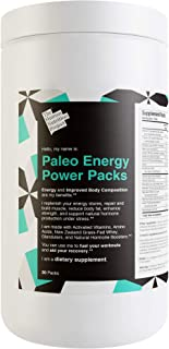 Paleo Energy Power Packs Multivitamin. Keto Pre Workout Supplement w/Grass Fed Whey, Glandulars, Probiotics, Vitamins. Burn Fat, Gain Lean Muscle, Boost Energy, Focus, Recovery. Natural Preworkout