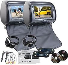 EINCAR Noir 2 PCS Car Headrest Double DVD Player 7 '' Ecran d'affichage HD..