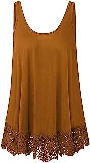 Plus Size Swing Lace Flowy Tank Top for Women