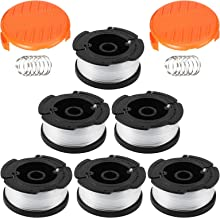 Trimmer Strimmer Spool & Line Compatible with BLACK & DECKER AF-100, 6 Pack 30ft 1.65 mm Autofeed Strimmer Spool and Edger...