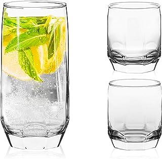 Set de 18 verres LAV de 3 tailles différentes: 385 ml, 310 ml et 215 ml