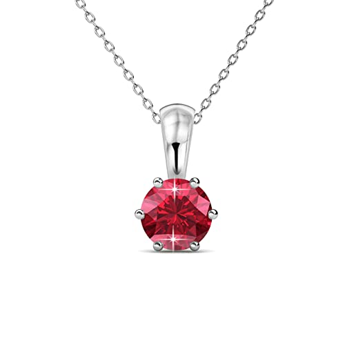 a7a8635b8d4 Private Twinkle 18ct White Gold Plated Necklace with Birthstone Pendant  embellished with SWAROVSKI crystal for Women