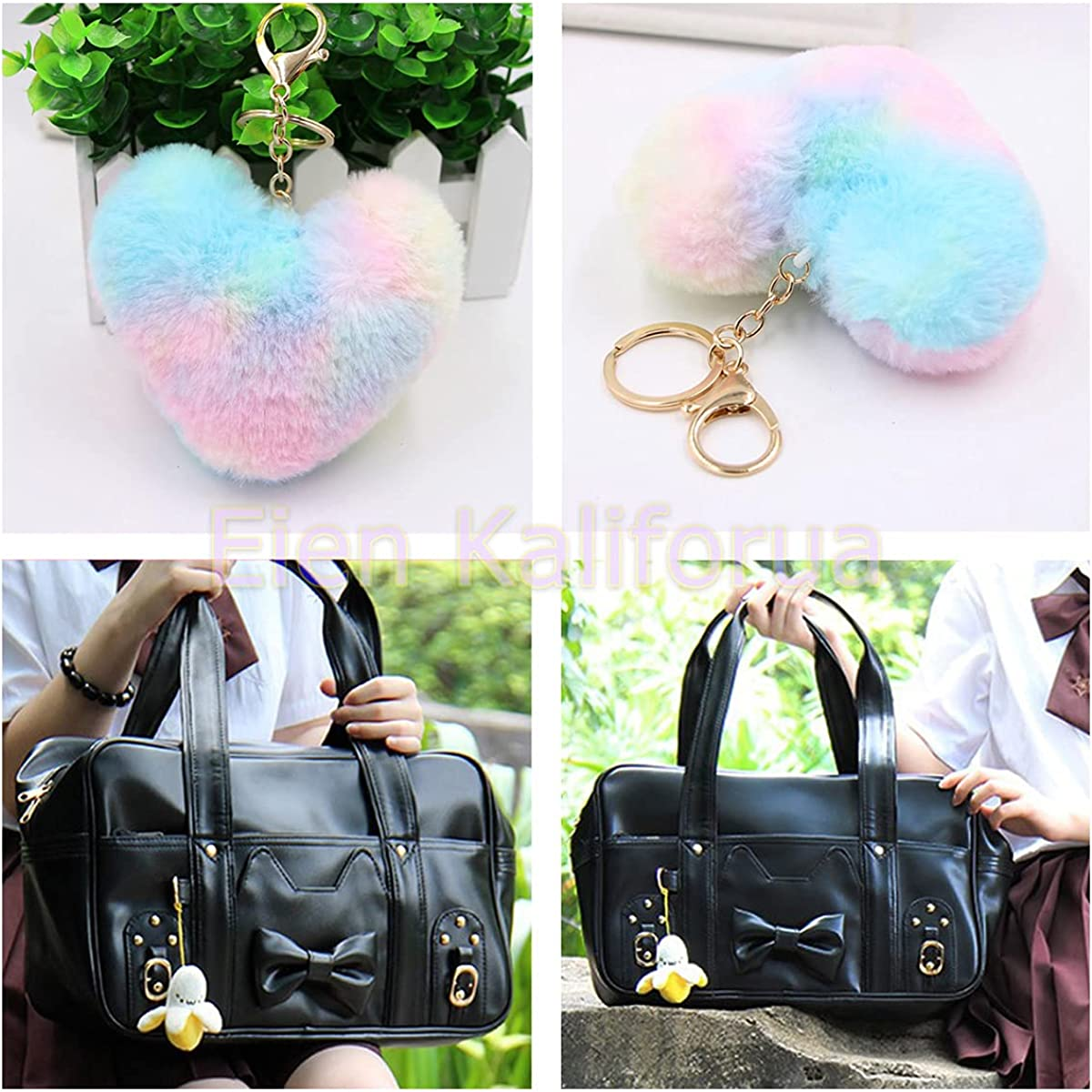 Eien Kaliforua Japanese JK Uniform Shoulder Bag PU Faux School Bag Kawaii Lolita Handbag