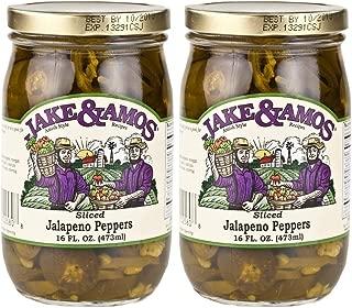Jake & Amos, Amish Style, Jalapeno Peppers (Sliced), 2 - 16 Oz. Jars