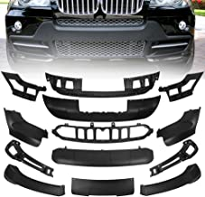runmade Front & Rear Propylene Aerodynamic Bumper Spoiler Body Lip Kit Mate Black for 2007 2008 2009 2010 BMW X5 E70 (13pcs/Set)
