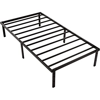 "Amazon Basics Heavy Duty Non-Slip Bed Frame with Steel Slats, Easy Assembly - 14""H, Twin"