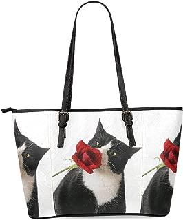 InterestPrint Custom Unique Leather Tote Shoulder Bag Handbag Gift for Women Girls
