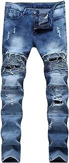 2019 Jeans Hip Hop Moto Mens Designer Clothes Distressed Ripped Skinny Denim Biker Jeans Dropshipping