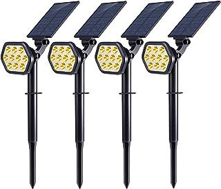 Nekteck Solar Lights Outdoor,10 LED Landscape Spotlights Solar Powered Wall Lights 2-in-1 Wireless Adjustable Security Dec...